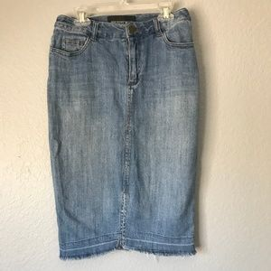 Who What Wear Denim Pencil Skirt Size 4